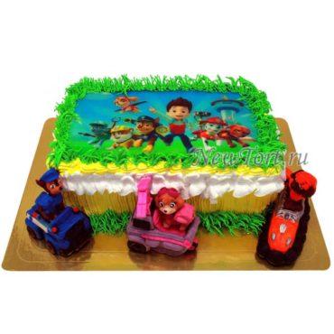 Торт щенячий патруль на машинках
