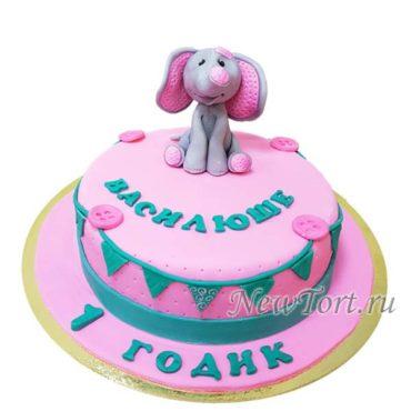 Торт на годик со слоником