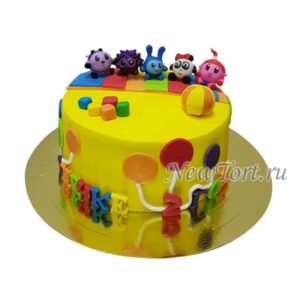 Торт малышарики  без мастики