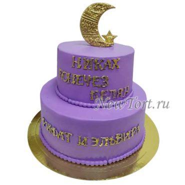 Торт с полумесяцем