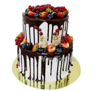 Ягодный торт с цифрами
