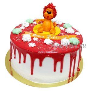 Торт со львёнком на день рождение