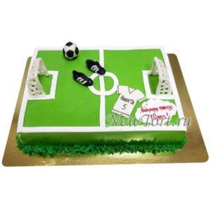Торт футбольное поле из мастики