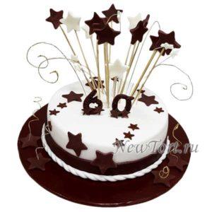 Торт из мастики со звездами