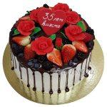 Ягодный торт на годовщину свадьбы СТ178