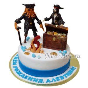 Торт пираты и сундук
