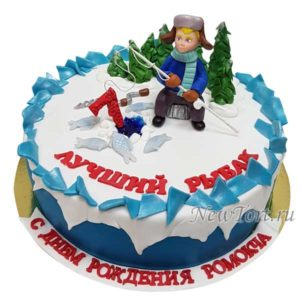 Торт для маленького рыбака