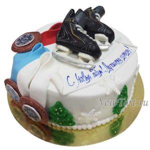 Торт с коньками