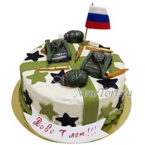 Торт с танками и гранатами
