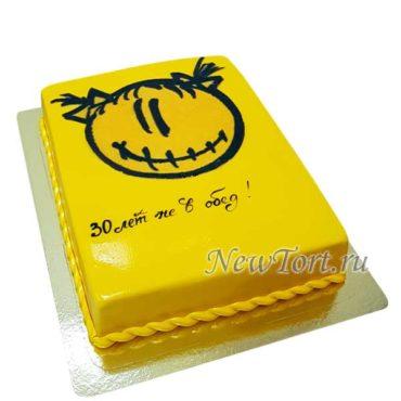 Желтый корпоративный торт