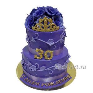 Торт корона с розами