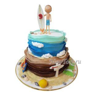 Торт маленькому серфингисту
