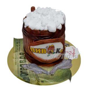 Торт кружка пива и раки