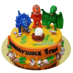 Торт яйцо динозавра