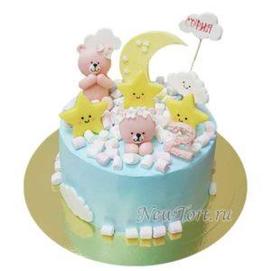 Торт мишки на небе
