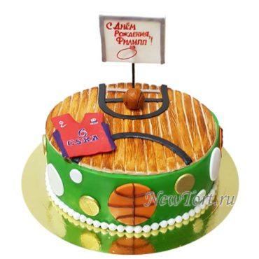 Торт баскетбольная стойка и форма