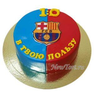 Торт футбольный со счетом