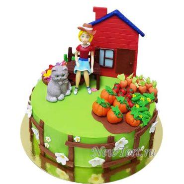 Торт для дачницы с котом