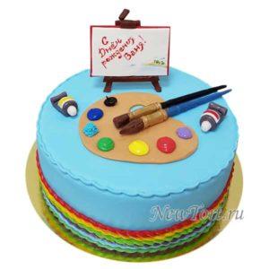 Торт с акварелью