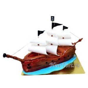 Торт пиратский корабыль