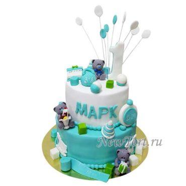 Торт мишки и игрушки