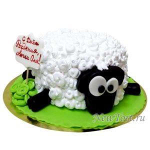 Торт овечка без мастики