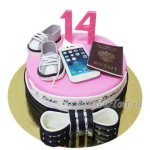 Торт подарки на четырнадцатилетие