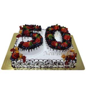 Двухярусный торт цифра