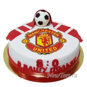 Торт футбольный с шарфом