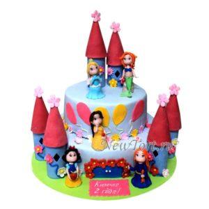 Торт на детский праздник Замок