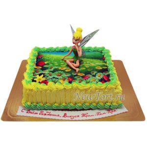 Торт с феей Винкс  на картинке
