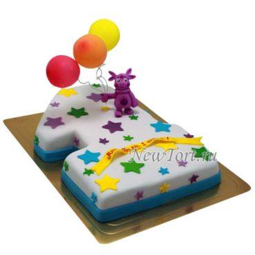 Торт Лунтик на годик