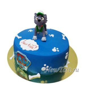 Торт щенок Маршал с мастикой