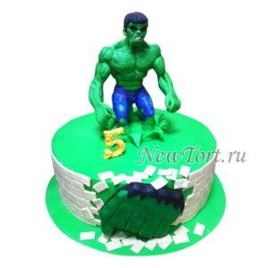 Торт с Халком и кулаком