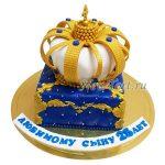 Квадратный торт с короной