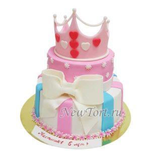 Торт корона для девочки
