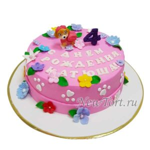 Торт Скай с цветами