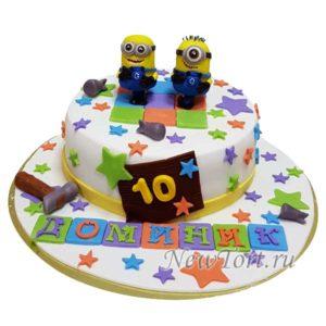 Торт Миньоны и звездочки