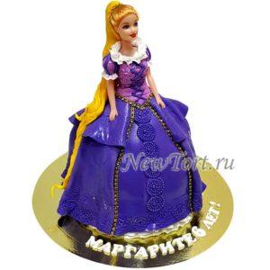 Торт кукла Рапунцель-2