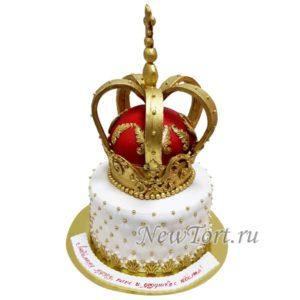 Торт с короной два яруса