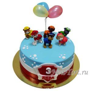 Торт щенки и шарики