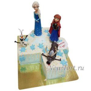 Торт цифра с Анной и Эльзой