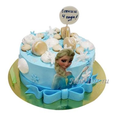 Торт с Эльзой без мастики