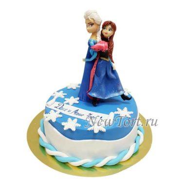 Торт Анна и Эльза с мастикой