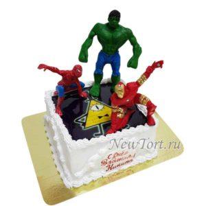 Торт Марвел супергерои без мастики