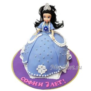 Торт кукла принцесса София
