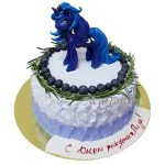 Торт принцесса Луна с голубикой
