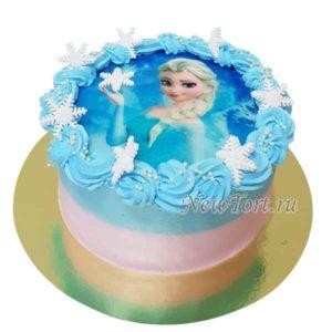 Торт с Эльзой на картинке