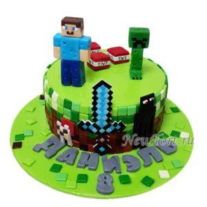 Торт любимые персонажи майнкрафт