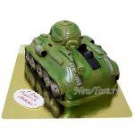 Зеленый торт-танк